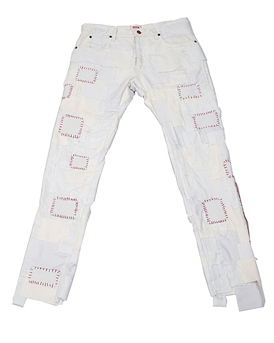 CRUST PANTS WHITE 001