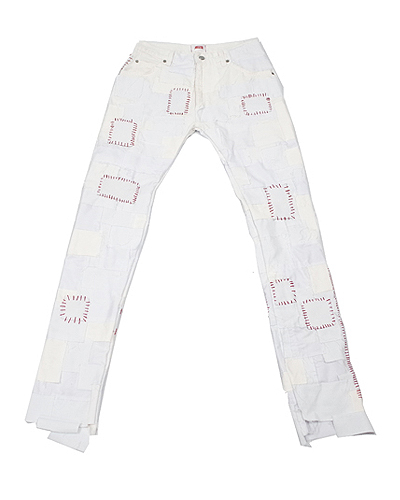 CRUST PANTS WHITE 002