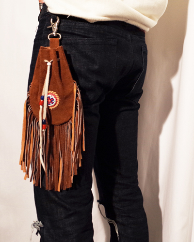 LEATHER TASSEL KEY POCKET