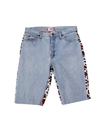 SKATEBORDER 1/2 DENIM (LEOPARD RED)001