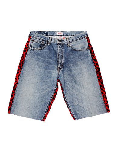 SKATEBORDER 1/2 DENIM (LEOPARD RED)002