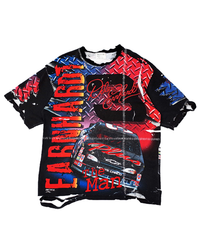 CRAZY RACING STITCHED T-SHIRT
