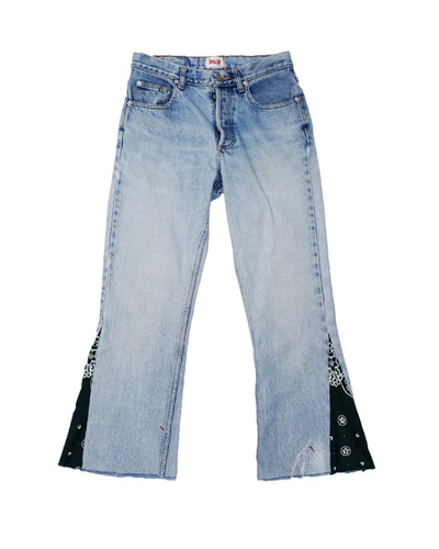 CUT-OFF PAISLEY DENIM 003