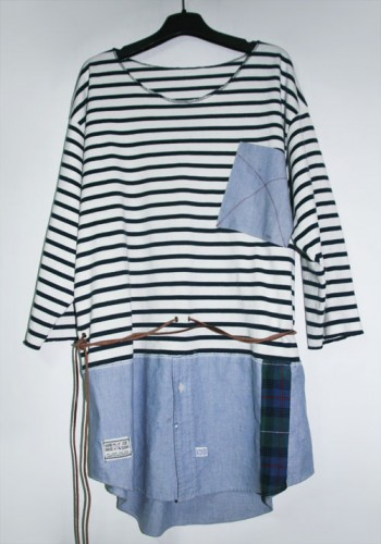 STRIPE CRUISE-NECK TEE